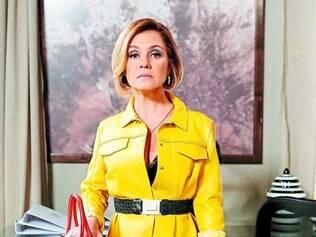 Em alta.   Inês, personagem de Adriana Esteves, é um dos pontos fortes do folhetim das nove da Globo