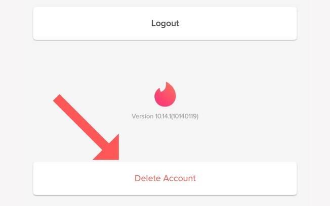 Como apagar o Tinder #3: o Tinder está cheio de configurações, e o botão
