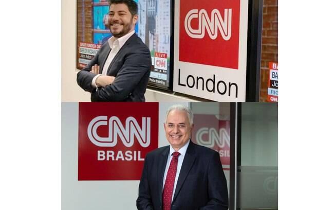 Evaristo Costa e William Waack foram contratados pela CNN Brasil