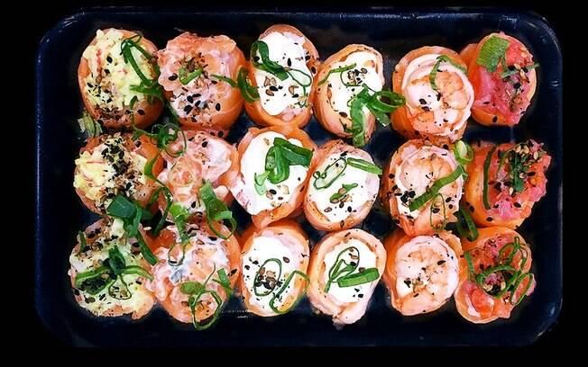 O joe é um sushi que utiliza o peixe para envolver o arroz