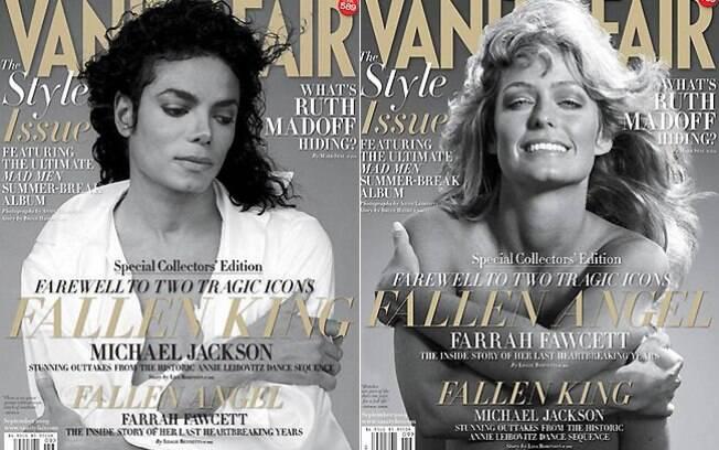 Michael Jackson e Farrah Fawcett estamparam edição especial da Vanity Fair. Os dois artistas morreram no mesmo dia