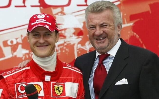 Michael Schumacher com Willi Weber, seu ex-empresário