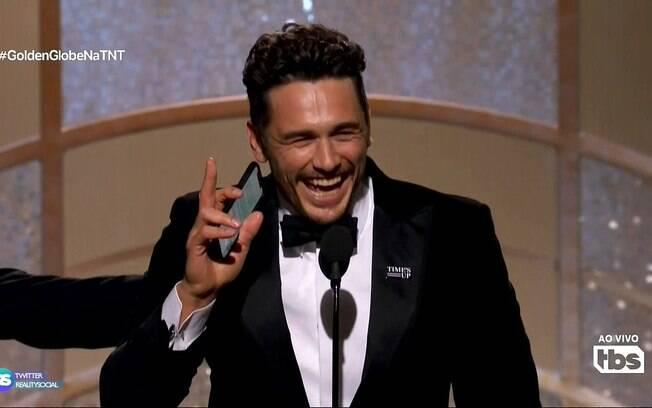 James Franco foi acusado de assédio após receber prêmio no Globo de Ouro