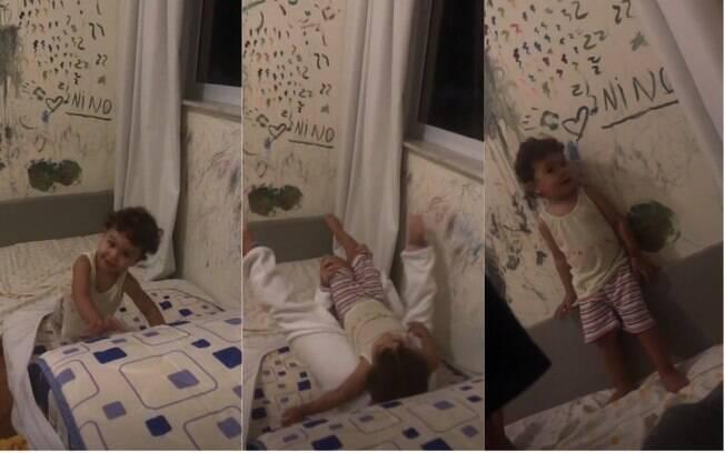 As paredes de Bela Gil também apareceram em vídeos compartilhados pela apresentadora na sua página no Instagram