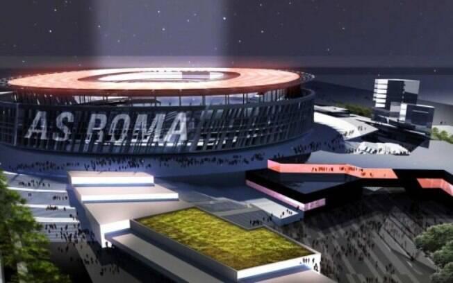 Novo estádio da Roma visto por fora