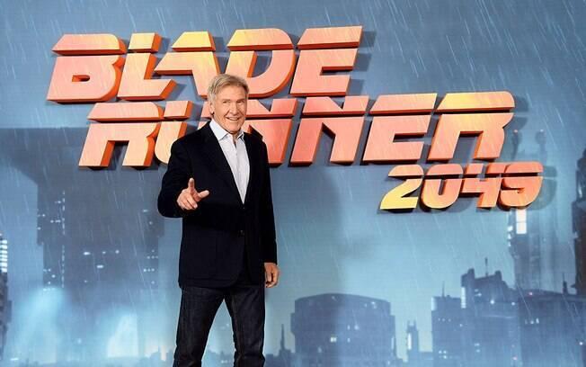 As melhores fotos de famosos de 2017: Harrison Ford em evento de lançamento de ''Blade Runner 2049''. Foto: Reprodução/IMDB