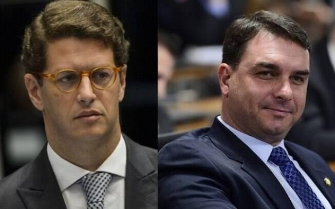 Ricardo Salles e Flávio Bolsonaro