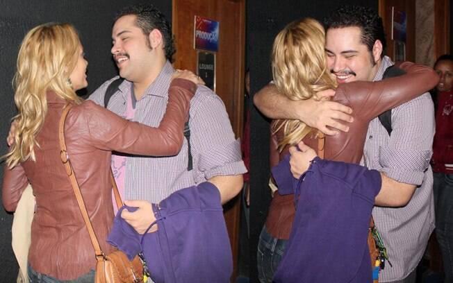 Após o espetáculo, a  atriz fou cumprimentar Tiago Abravanel, que interpreta Tim Maia no espetáculo