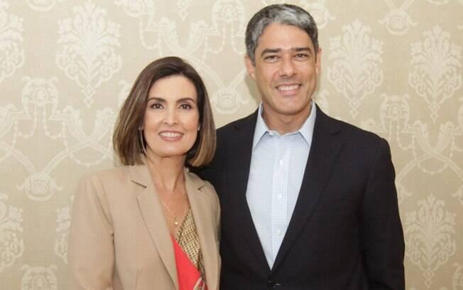 Fátima Bernardes e William Bonner: Ele fica do JN, ela sai
