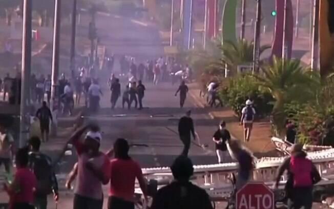 Manifestantes rejeitam a elevação das contribuições à Previdência introduzida na reforma decretada na Nicarágua
