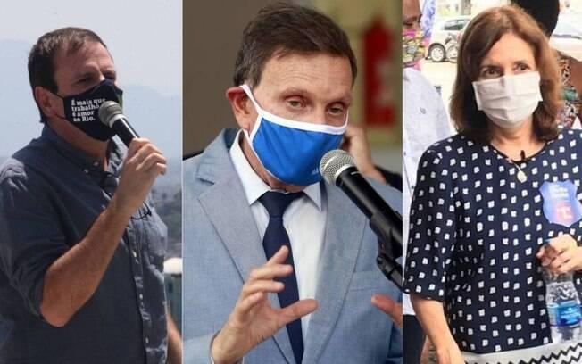 Eduardo Paes, Marcelo Crivella e Martha Rocha