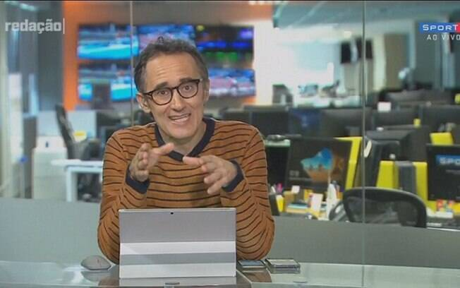 'Redação SporTV' debate ato político de atleta do vôlei e Barreto questiona: 'E se fosse Globo lixo?'