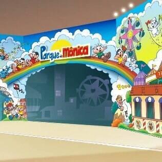 Fachada do novo Parque da Mônica, em SP