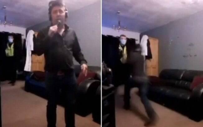 Cover de Elvis foi abordado por policiais durante live