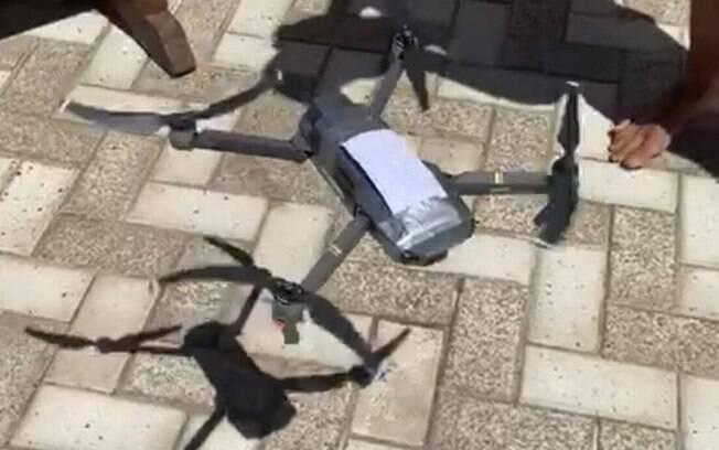 Drone entrega cigarro suspeito em cobertura de prédio na zona sul do Rio