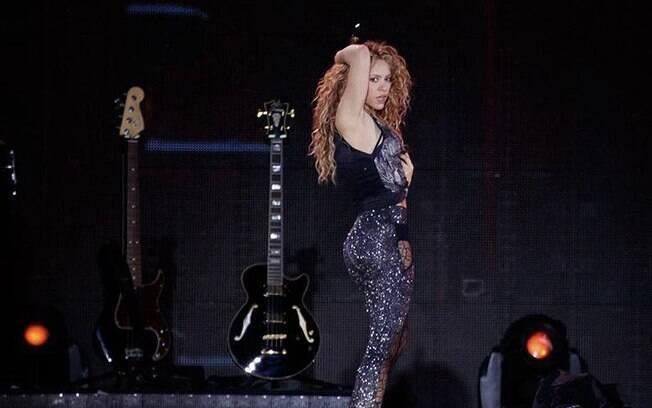 Shakira em show em SP após sete anos