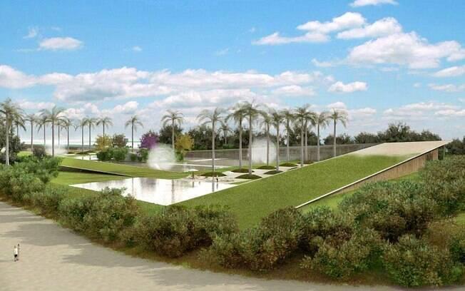 Na residência do ex-primeiro ministro do Qtar, os arquitetos inovaram ao fazer um projeto onde o telhado da cobertura verde toca o solo