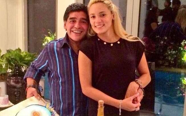 Diego Maradona e a ex-noiva Rocio Oliva