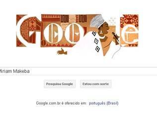 Miriam Makeba ganhou logotipo especial do Google