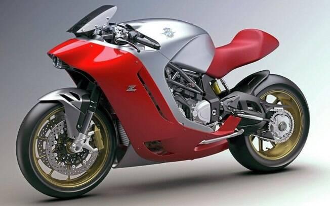 O protótipo deve ser equipado com o mesmo motor de 201 cv e 11,6 kgfm usado na MV Agusta F4.