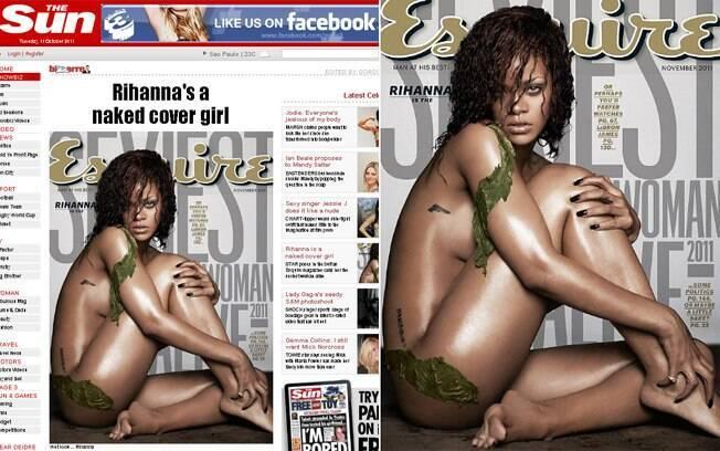 """Rihanna foi eleita a mais sexy e posou nua para a """"Esquire"""""""