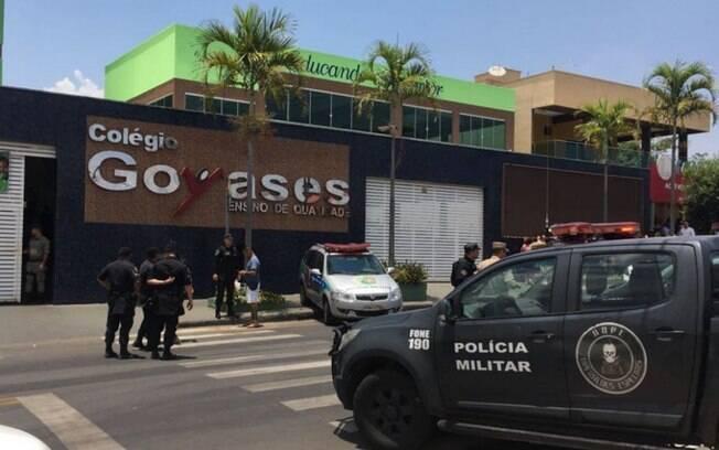 Colégio Goyases, em Goiânia, foi palco de ataque a tiros nesta sexta-feira (20)