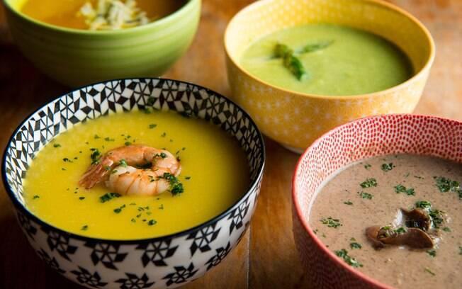 Sopas também podem fazer parte do cardápio saudável