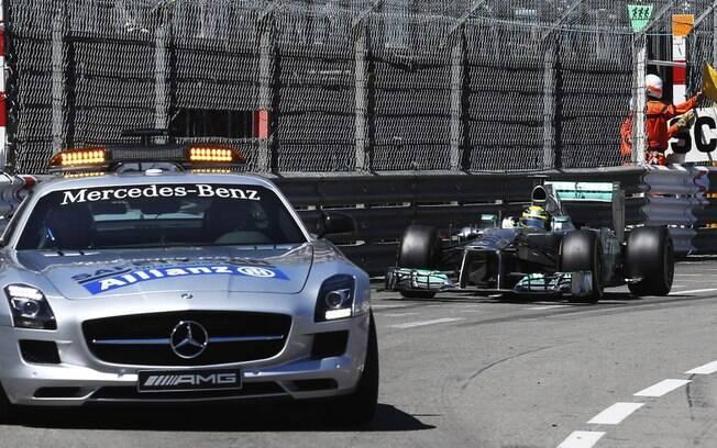 Safety car foi um dos protagonistas da prova,  marcada por dois fortes acidentes
