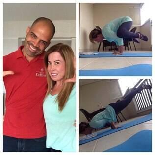 Zilu publica foto e mostra equilíbrio em aula de Yoga