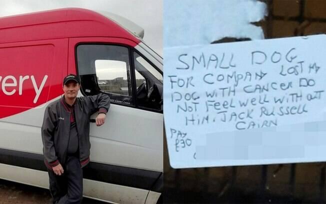 Entregador ajuda cliente idoso que perdeu o cachorro para o câncer a encontrar um novo pet