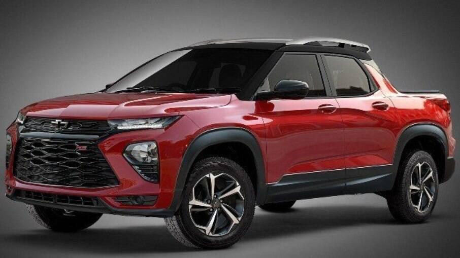 Projeção mostra como deverá ficar a picape da GM que terá a Fiat Toro como principal concorrente
