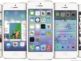 iOS 7, sistema para dispositivos móveis da Apple, traz Siri com Bing como seu mecanismo de busca padrão
