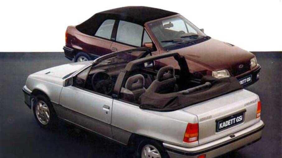 Junto ao hatchback, a GM preparou uma versão cA Conversível contava com a parceria do estúdio italiano Bertone