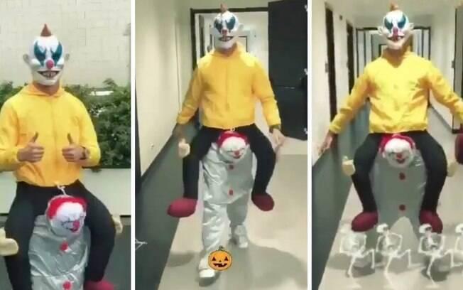 Cristiano Ronaldo e sua fantasia de palhaço assassino no Halloween