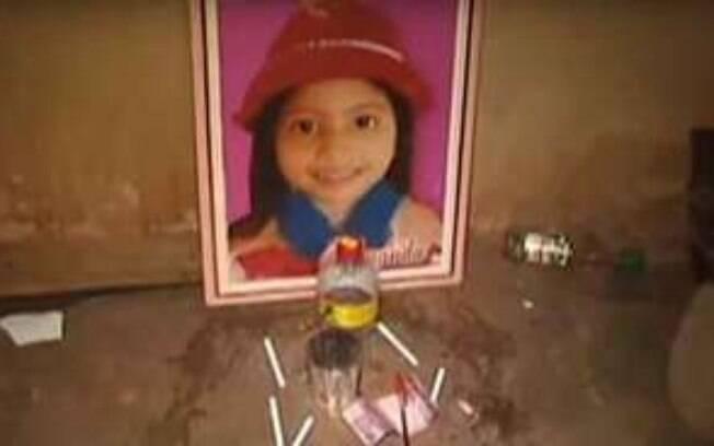 Vizinho fez altar com foto da vítima