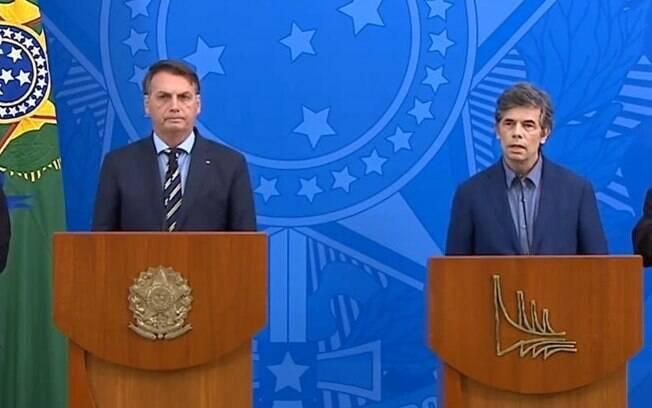 Ex-ministro Nelson Teich e presidente Jair Bolsonaro