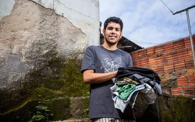 Wendell da Costa Nascimento: depois de incêndio em favela, mobilização para arrecadar roupas e mantimentos