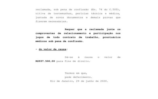 Flamengo é processado por Ederson