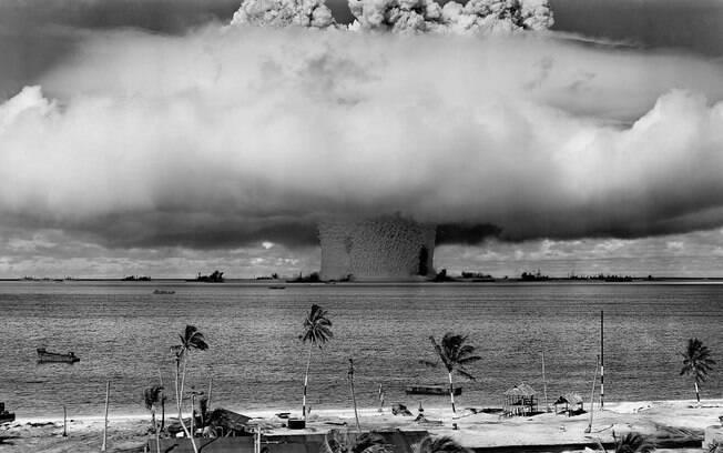 Explosão atômica no Atol de Bikini, em 1948