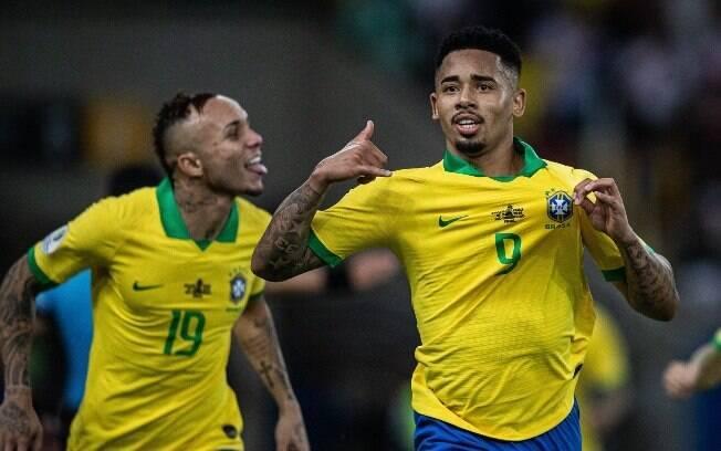 Gabriel Jesus foi o personagem da vitória do Brasil contra o Peru