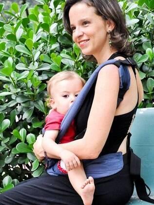 A consultora Michelle Prazeres mudou de área de atuação depois do nascimento do filho