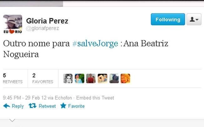 A novelista Gloria Perez confirmou o nome de Ana Beatriz Nogueira para sua trama