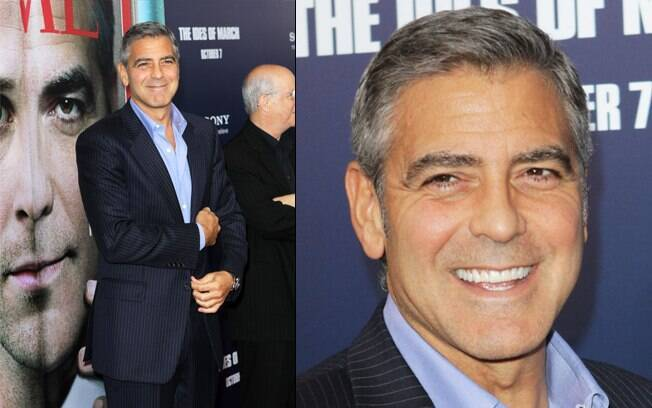 "George Clooney na pré-estreia de seu filme ""The Ides of March"""