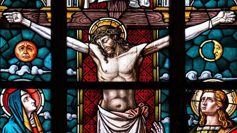 Imagem de Cristo em virtral