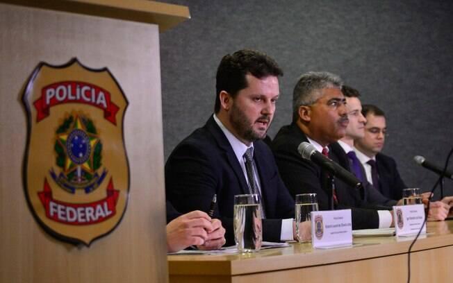 Polícia Federal em coletiva nesta segunda feira para comentar a 31 fase da Operação Lava Jato