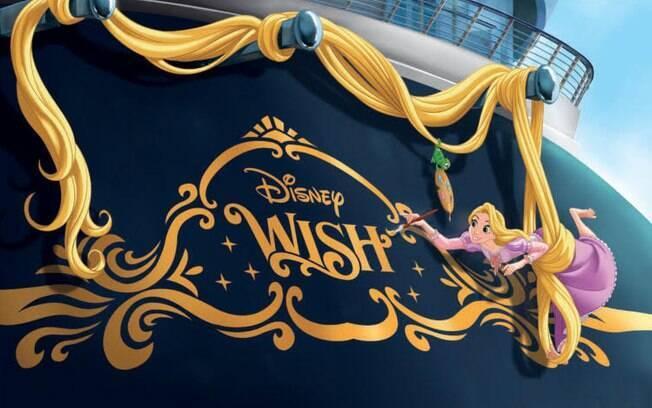 O novo navio de cruzeiro da Disney terá Rapunzel como tema principal e será lançado em 2022