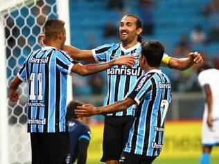 Barcos balançou as redes duas vezes em vitória do Grêmio sobre o Novo Hamburgo