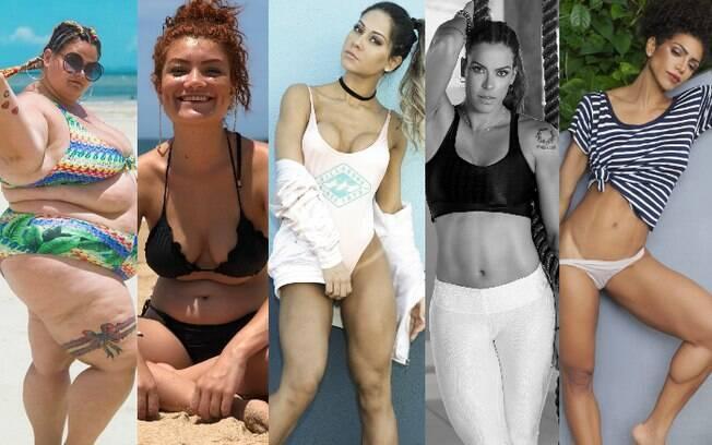 Estas mulheres têm corpos bem diferentes umas das outras, mas têm duas coisas em comum: recebem críticas e se amam