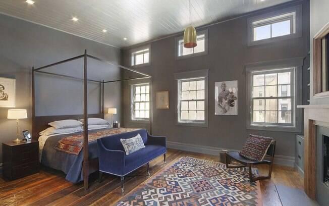 Mansão de famoso: detalhe de um dos quartos da casa de Bradley Cooper