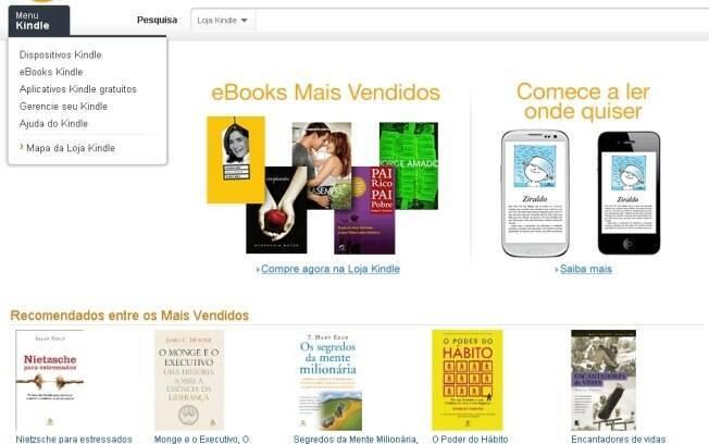 Amazon lança loja de livros com 13 mil títulos em português